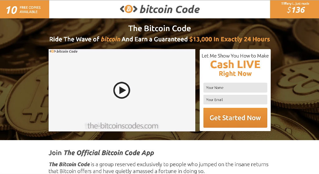 The Bitcoin Code Crypto Estafa