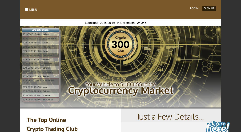 Crypto 300 Club Crypto Estafa