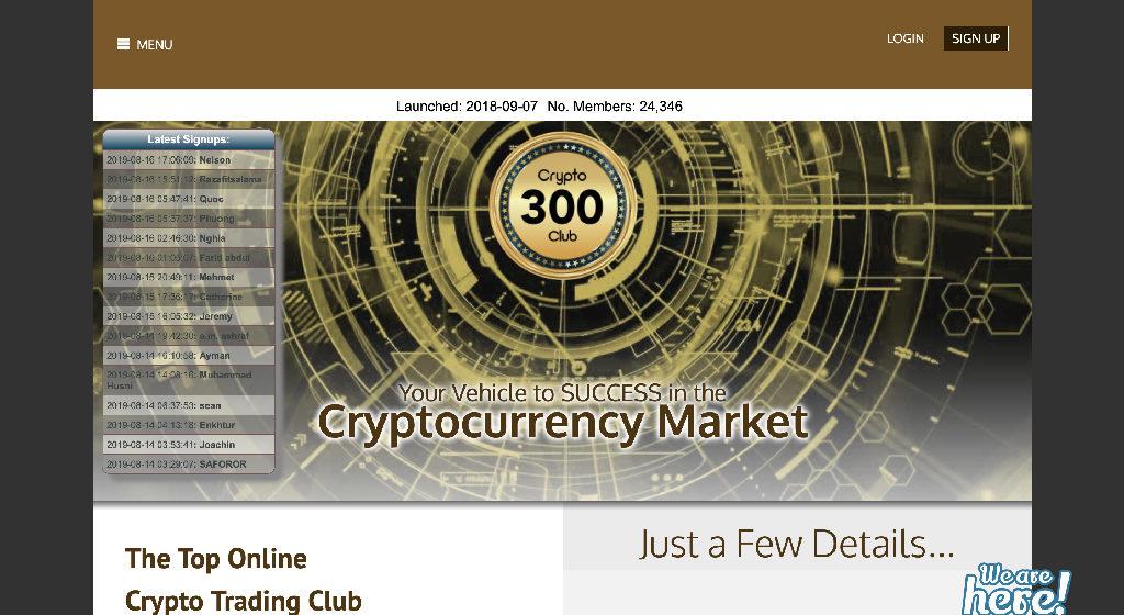 Crypto 300 Club Crypto Estafa