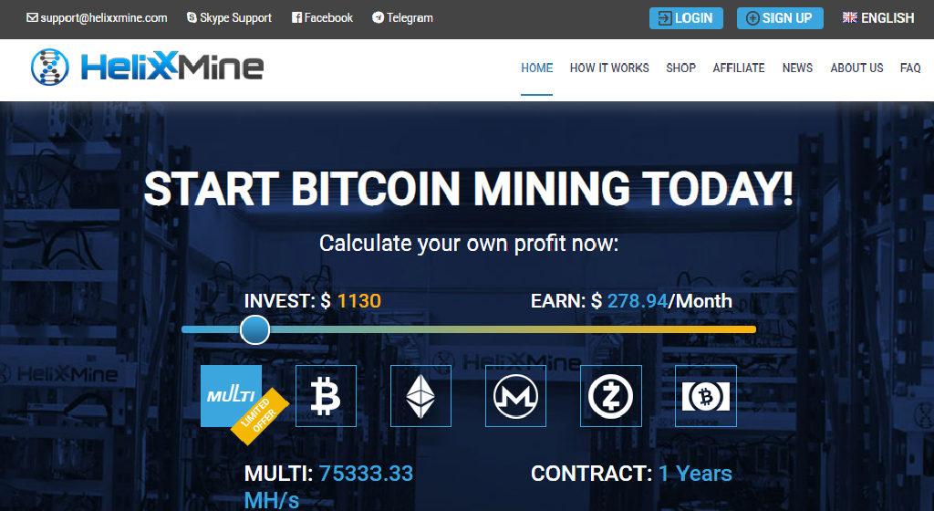 HelixxMine Crypto Estafa