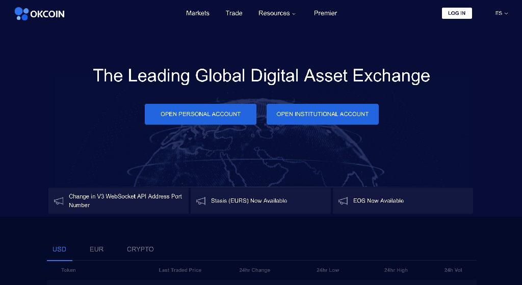 OkCoin Crypto Broker