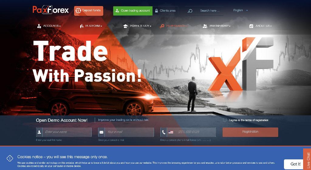 PaxForex Forex Estafa