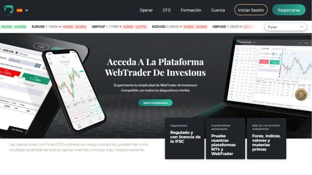 Investous Forex Estafa | WebTrader