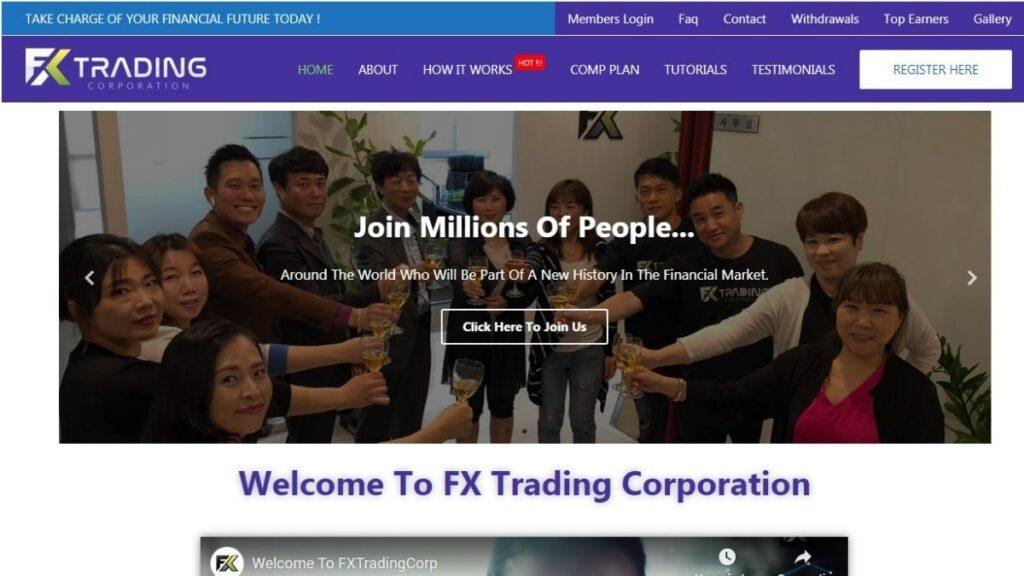 Fx trading corp Forex Estafa