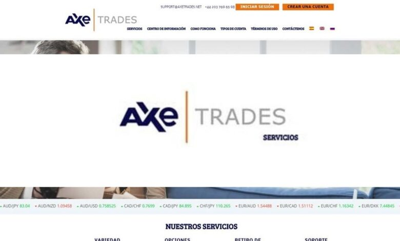 Axe Trades Binarias Estafa