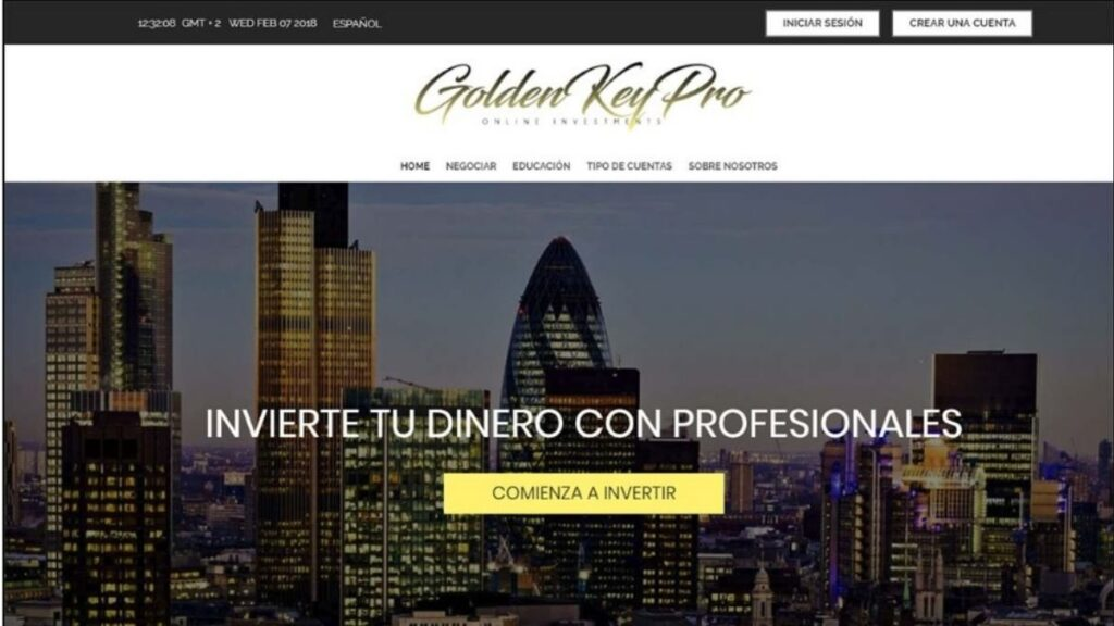 Golden Key Pro Binaria Estafa