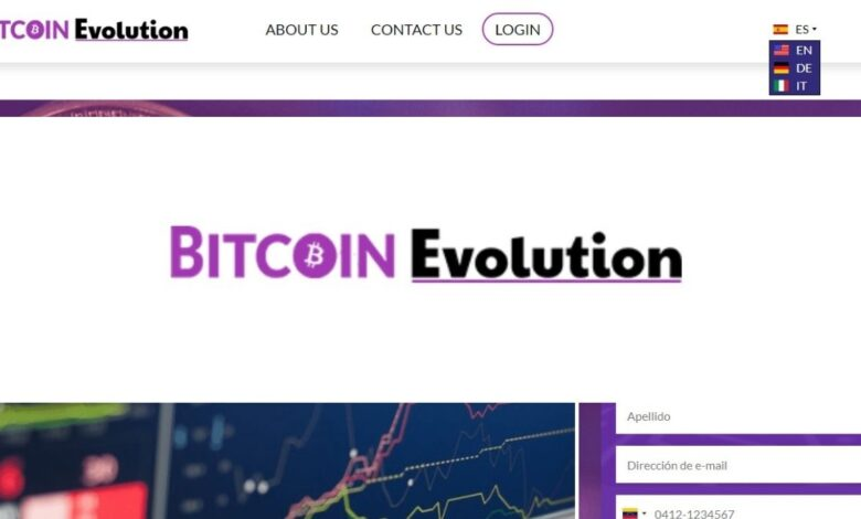 Bitcoin Evolution Crypto Estafa