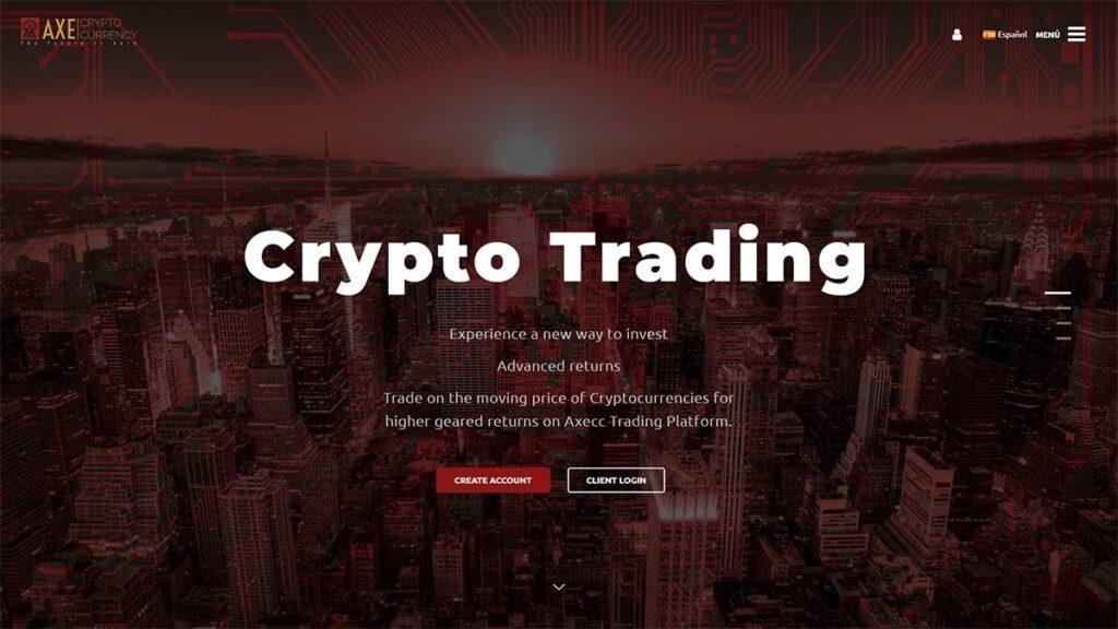 AxeCC Trading Crypto Estafa