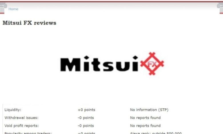 Mitsui FX Crypto Estafa